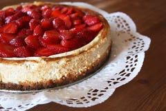 Home-made strawberry cheesecake Stock Photo