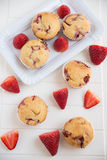 Home made Strawberry Muffins Royalty Free Stock Images