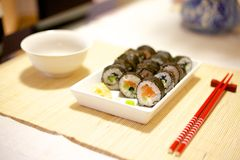 Home made sushi Royalty Free Stock Photography