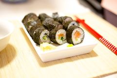 Home made sushi Royalty Free Stock Photos