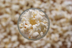 Home made   sweet popcorn made from corn Stock Photos