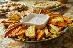Home Made Sweet Potato Appetizer Royalty Free Stock Photos