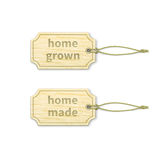 Home-made tags set 1.3 Royalty Free Stock Photo