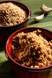 Home made tahini with sesame seeds  and garlic Stock Image