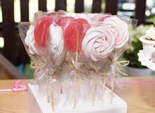 Home made tasty pink candy royalty free stock photo