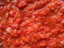 Home made tomato sauce with onion Royalty Free Stock Photography