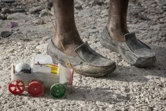 Home made toy. In the streets of Port Au Prince, Haiti Stock Images