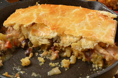 Home made turkey pot pie Royalty Free Stock Image