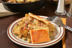 Home made turkey pot pie Stock Images
