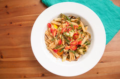 home made vegetable pasta Royalty Free Stock Image