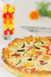Home made vegetable quiche Stock Images