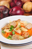 home made vegetable soup with pork meat Stock Image
