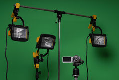 Home made video studio Stock Image