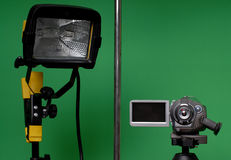 Home made video studio royalty free stock images
