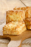 Home made warm cheese scone Royalty Free Stock Photos