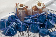 Home made weddings favors Royalty Free Stock Photos