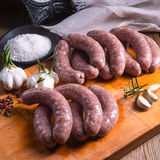 Home-made white sausage out pigs and calf meat Stock Photography
