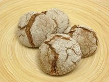 Home made wholemeal vinschgauer buns Royalty Free Stock Image