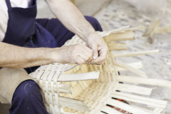Home-made wicker baskets Stock Photography
