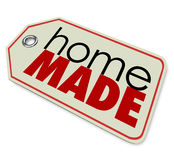 Home Made Words Price Tag Authentic Hand Crafted Products Royalty Free Stock Photography