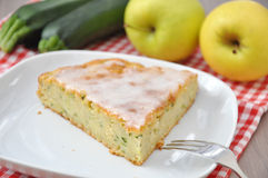 Zucchini Apple Cake Royalty Free Stock Photo