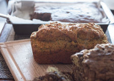 Home made zucchini bread Royalty Free Stock Photo
