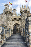 Home or main entrance of Templar castle in Ponferrada, the Bierzo Stock Photos