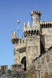 Home or main entrance of Templar castle in Ponferrada, Spain Stock Photo