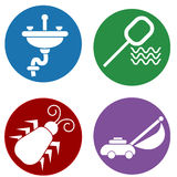 Home Maintenance Icons Royalty Free Stock Photography