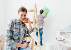 Home makeover and creativity Stock Image
