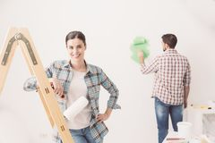 Home makeover Royalty Free Stock Images
