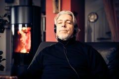 home man relaxing senior στοκ φωτογραφίες