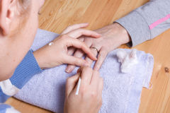 Home Manicure Stock Photos