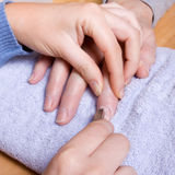 Home Manicure Royalty Free Stock Photos