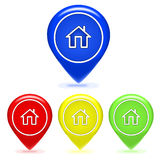 Home Map. Set home map location icon. Vector Illustration Royalty Free Stock Image