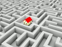 Home in the maze Royalty Free Stock Images