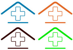 Home medical symbol Stock Images