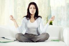 Home meditation Stock Images