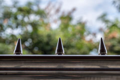 home metal fence Royalty Free Stock Images