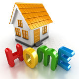 Home model and text Royalty Free Stock Images