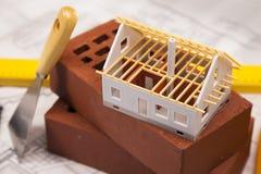 Home modell- och konstruktionsutrustning Royaltyfri Fotografi