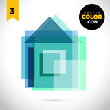 Home Modern Color Icon for web. New creative design symbol. Royalty Free Stock Images