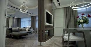 Modern interior. stock photos