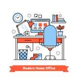 home modernt kontor royaltyfri illustrationer