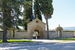 Home of the monastery of San Juan de Acre, Navarrete. In Navarrete in the Camino de Santiago is one of the most important monuments of Romanesque architecture of stock photo