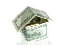 Home from money Royalty Free Stock Photo