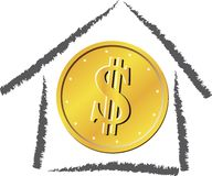 Home of money Royalty Free Stock Photo