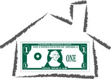 Home of money Stock Photo
