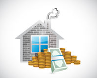 Home and money illustration design Royalty Free Stock Photo