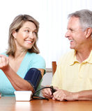 Home monitoring of blood pressure Royalty Free Stock Images